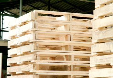 พาเลทไม้แบบสกิด | Skid Type Wood Pallet